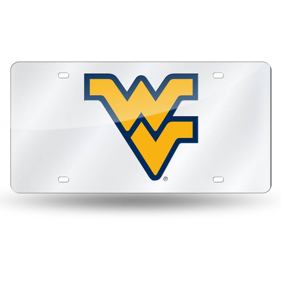 NCAA West Virginia Laser Tag License Plate