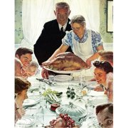 Marmont Hill Freedom From Want by Norman Rockwell Canvas Wall Art