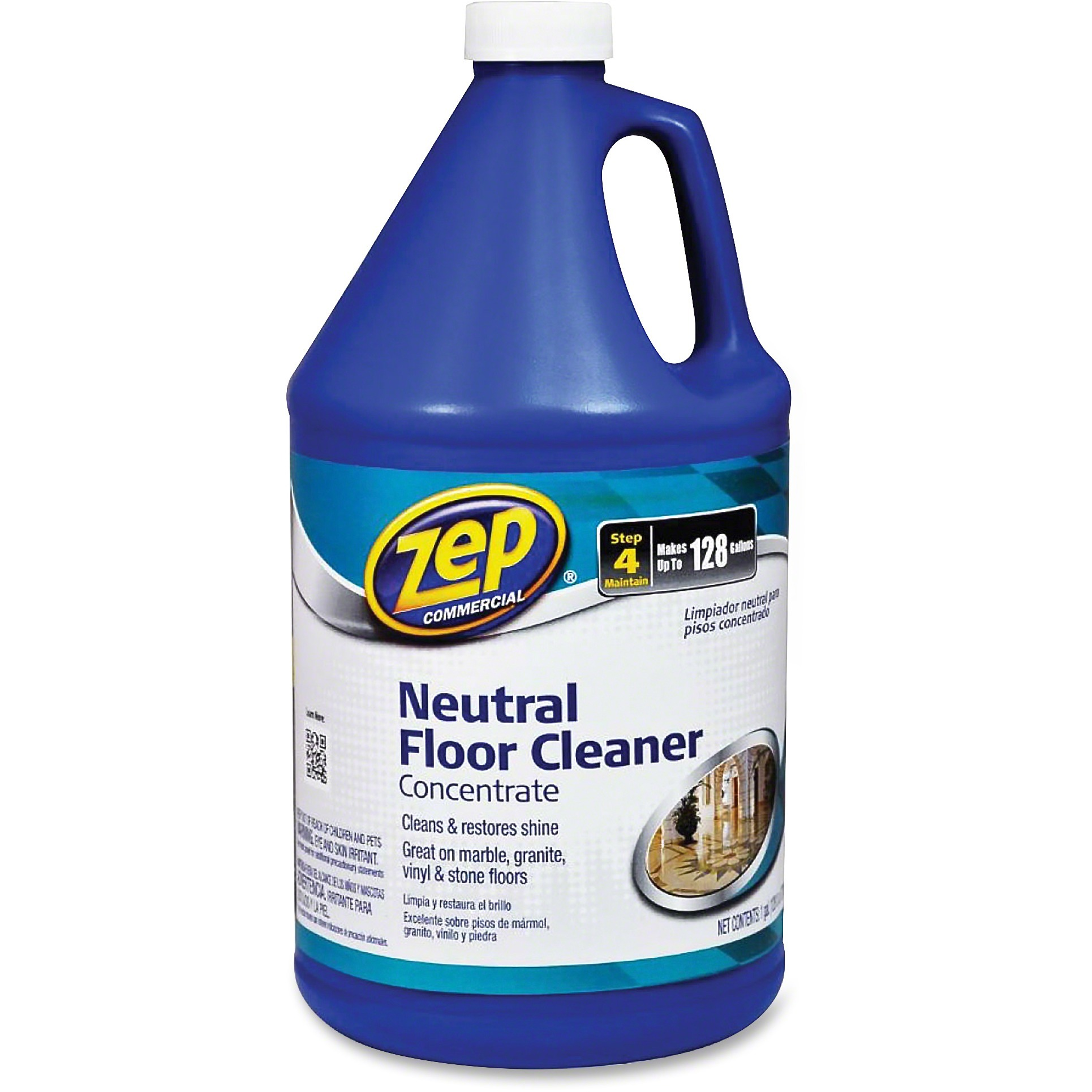 Zep Commercial Zpe1041696 Neutral Floor Cleaner Concentrate 1 Each Blue Walmart Com