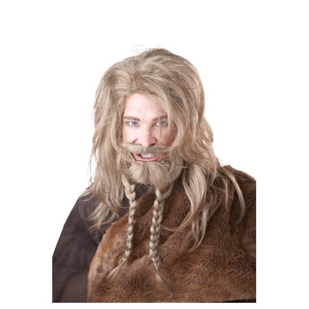 Viking Beard Costume (Blonde Viking Wig, Beard and)
