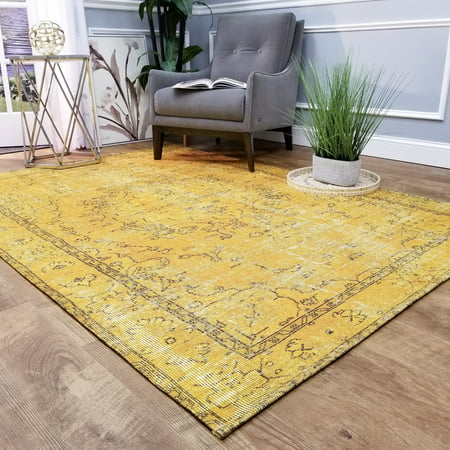Maxy Home Valencia Contemporary Dandelion Oriental 5 ft. 3 in. x 7 ft. 7 in. Area
