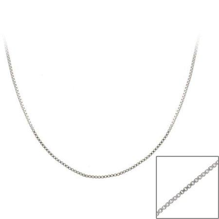 Overstock Com Jewelry - Mondevio  Sterling Silver Italian 36-inch Box Chain Necklace