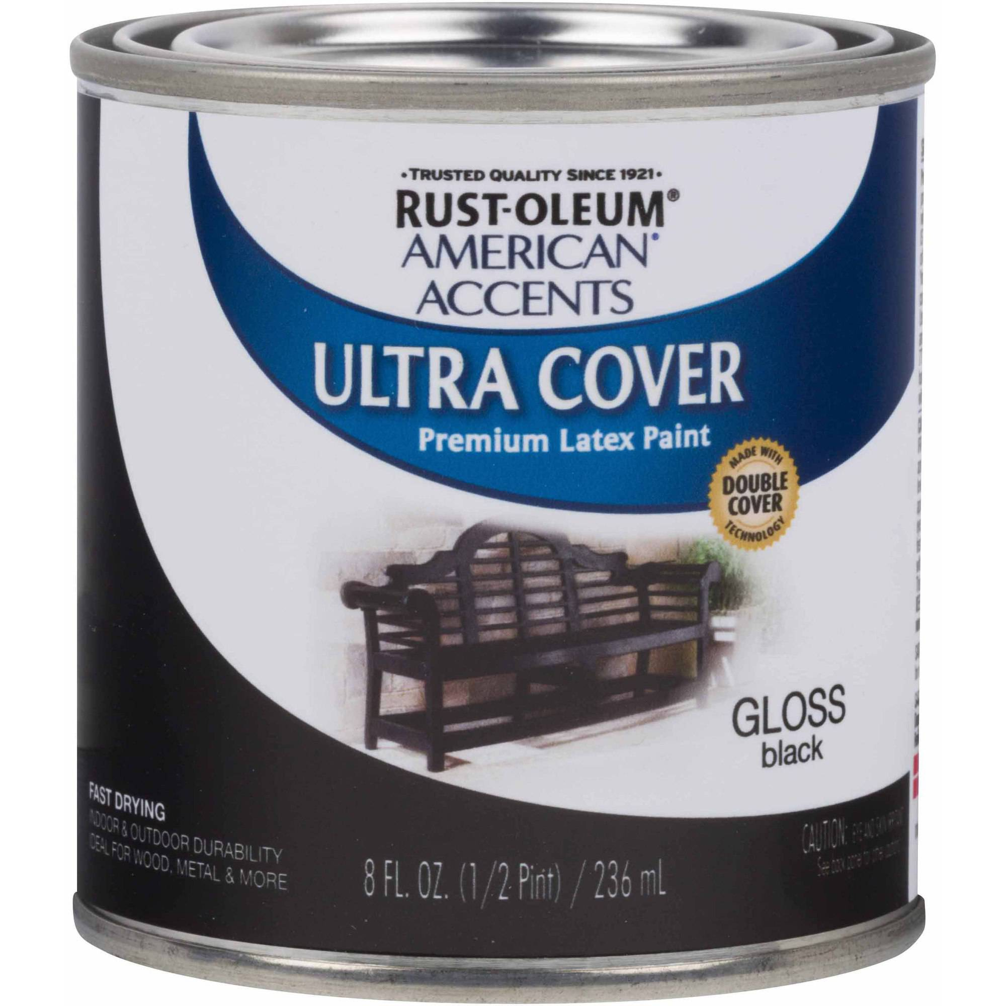 Rust-Oleum American Accents Ultra Cover Half-Pint, Gloss Black