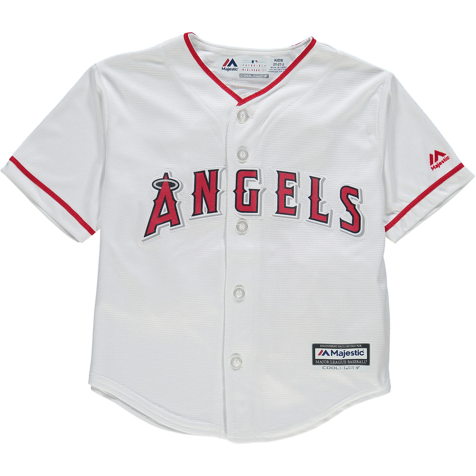 Los Angeles Angels Majestic Toddler Official Cool Base Jersey - White