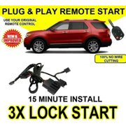 2006-2010 Ford Explorer Plug and Play Remote Start / 3X Lock / DIY Easy Install