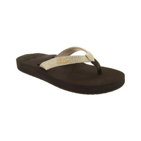Reef Women's Star Cushion Sassy Sandal (Reef Leather Fanning Sandals)