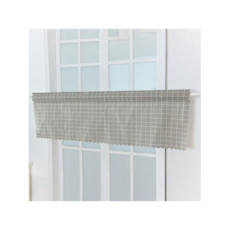 Lavaport Cafe Kitchen Short Plaid Sheer Window Tulle Curtain Panel Valance Decor 150x45cm ()