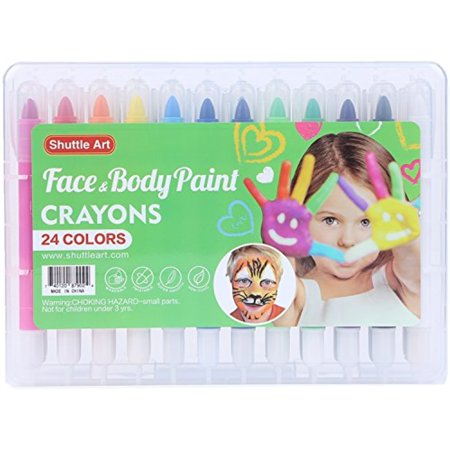 Shuttle Art Face Paint,Body Paint Kit with 24 colors for Kids Gift set - Ideas Of Face Painting