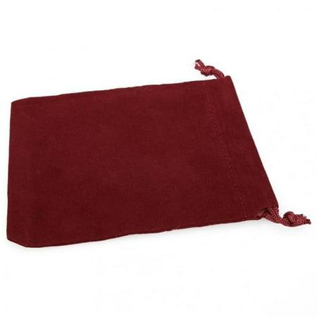 Small Suede Cloth Dice Bag, Burgandy