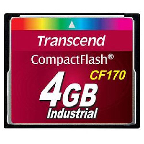 Transcend Information 4GB Industrial Temp CompactFlash Memory Card