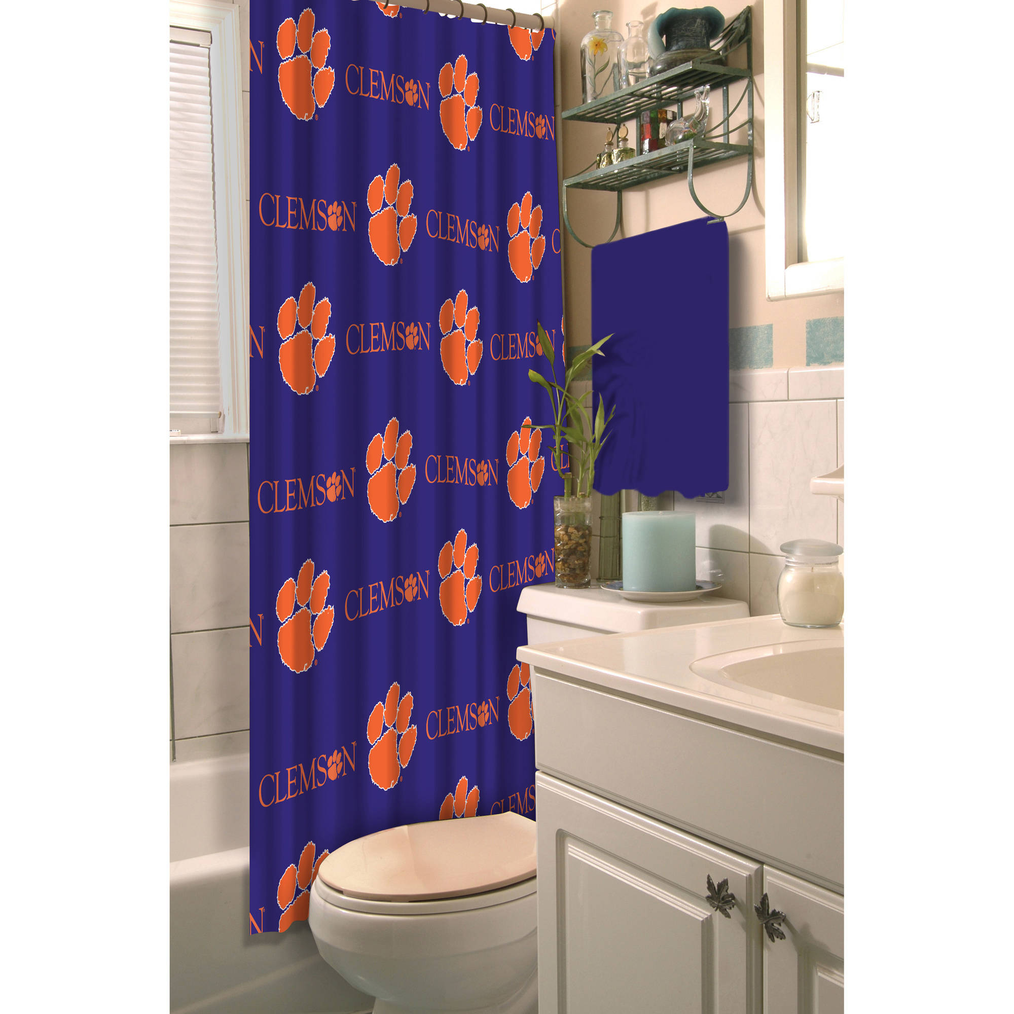 Superior NCAA Clemson University Decorative Bath Collection Shower Curtain