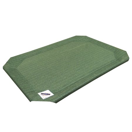 The Original Coolaroo Elevated Pet Dog Bed Replacement Cover, Medium, Green