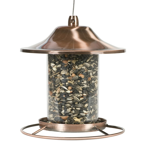 Perky-Pet 2 lb Copper Panorama Bird Feeder