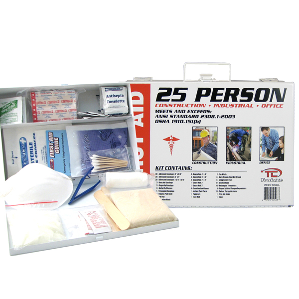 25 Person First Aid Kit Emergency Medical Construction Industrial Office