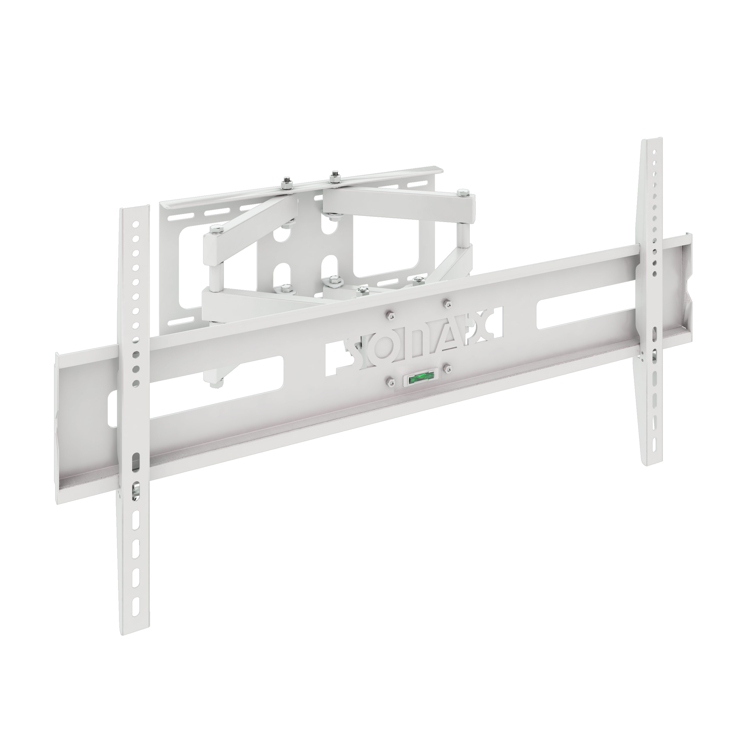 """Sonax Full Motion Flat Panel White Wall Mount for 37"""" 70"""" TVs by SONAX"""