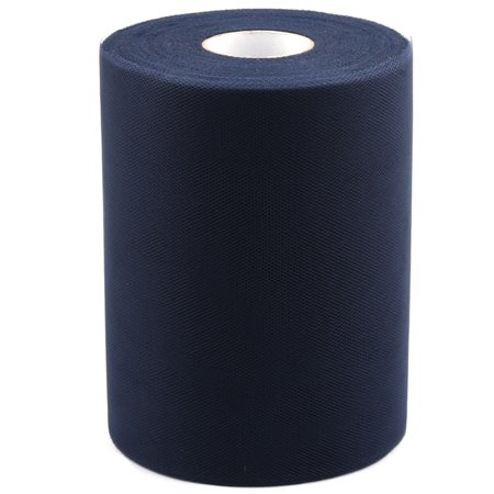 Unique Bargains Banquet Wedding Party DIY Tutu Gift Tulle Roll Spool Decor Navy Blue 25 Yards - Navy Tulle