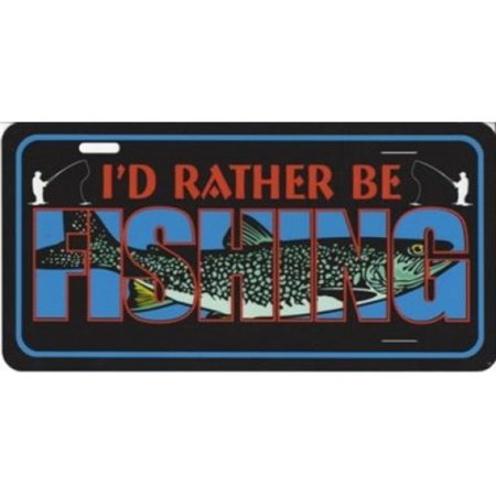 I 39 d rather be fishing photo license plate for Rather be fishing