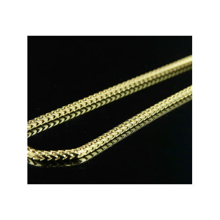Gold Solid Franco Chain (Solid 10K Yellow Gold Franco Chain 1.3 MM 16-30 Inches-22