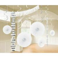 White Party Decoration Kit, 18pcs