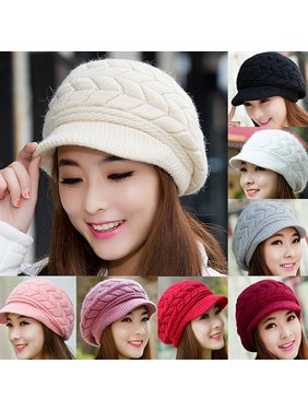 Product Image Obstce Women s Winter Solid Color Warm Knitted Baggy Beret Beanie  Hat Slouch Ski Cap 8fabea3c4708
