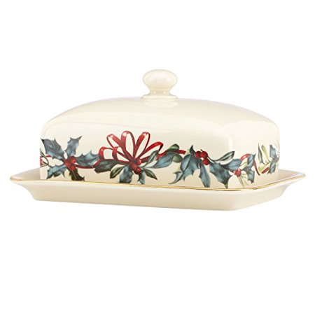 Lenox winter greetings covered butter dish walmart lenox winter greetings covered butter dish m4hsunfo