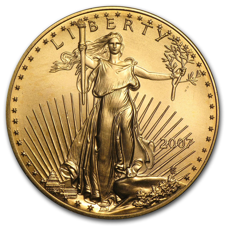 2007 1 oz Gold American Eagle BU
