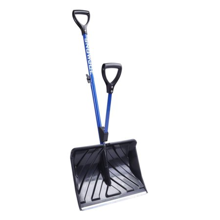 Snow Joe SJ-SHLV01 Shovelution Strain-Reducing Snow Shovel | 18-Inch | Spring Assisted