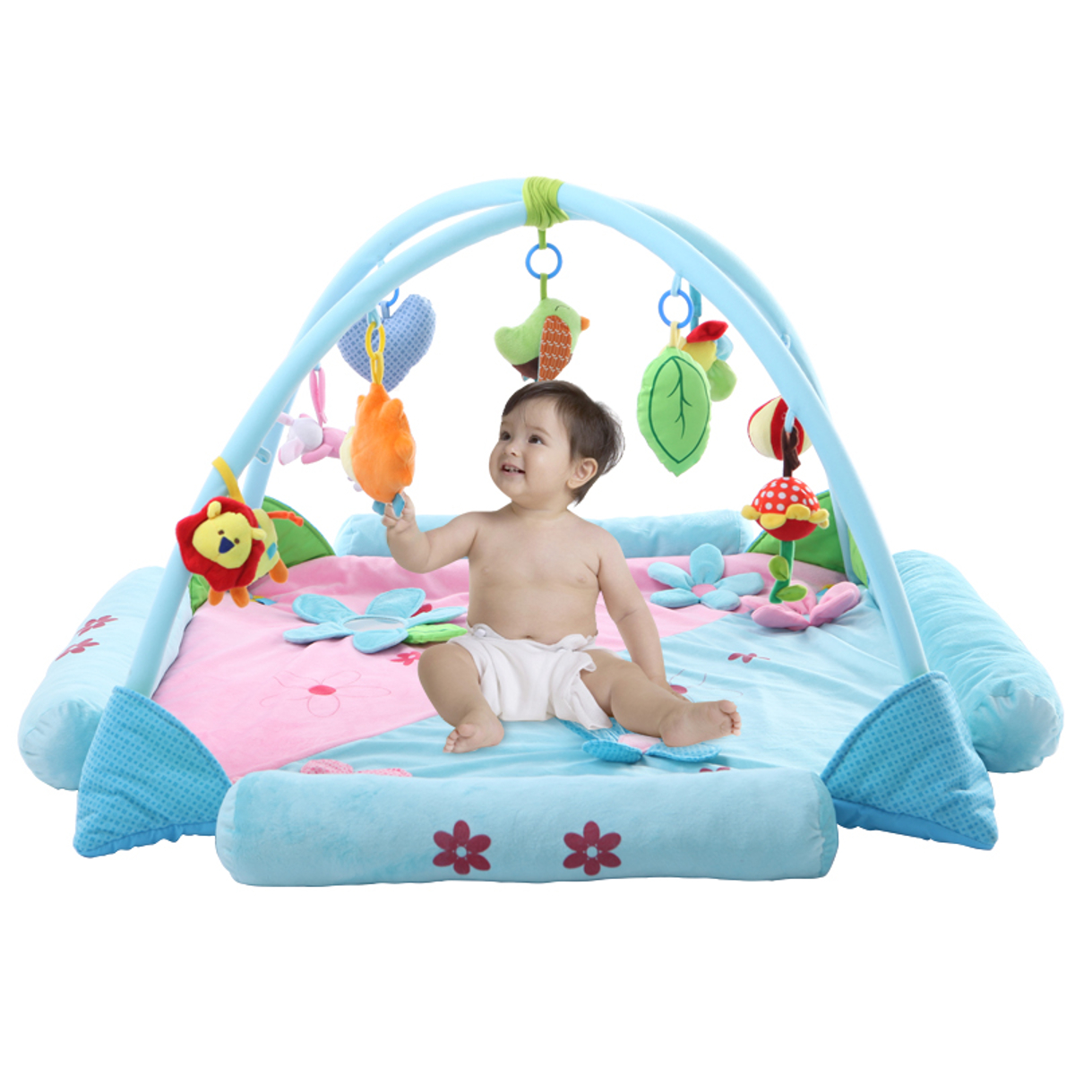 Meigar Infant Baby Kids See Play Go Activity Gyms & Playmats Play Mat Crawling Tummy Time Soft Toddler Toy Gift