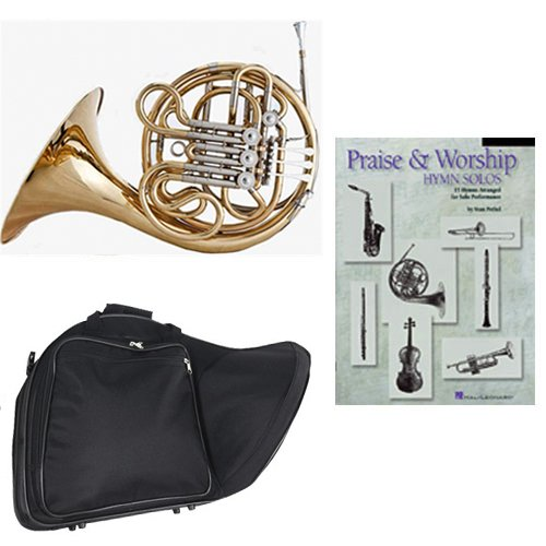 Band Directors Choice Double French Horn Key of F/Bb -Praise & Worship Hymn Solos Pack; Includes Intermediate French Horn, Case, Accessories & Praise & Worship Hymn Solos Book