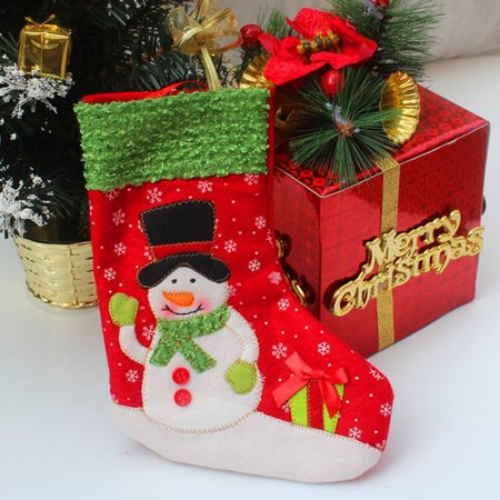 Christmas Stockings Socks Candy Gift Bag Xmas Cute Hanging Christmas Decoration