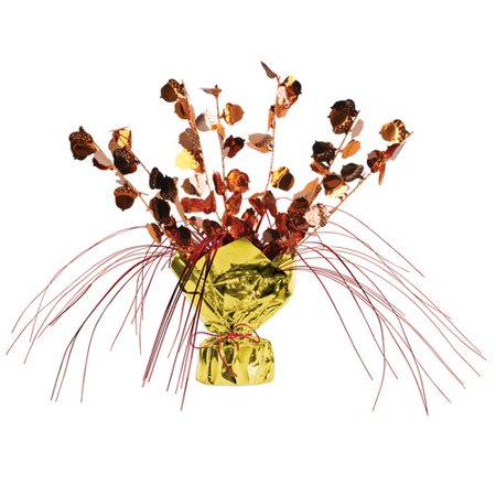 The Holiday Aisle Fall/Thanksgiving Acorn Gleam 'N Spray Centerpiece - Turkey Centerpieces Thanksgiving