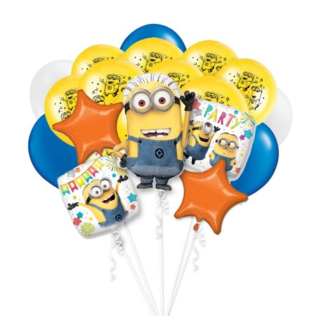 Despicable Me Minion Mayhem 18 PC Party Gift Birthday Balloon Bouquet Decoration - Minion Decoration