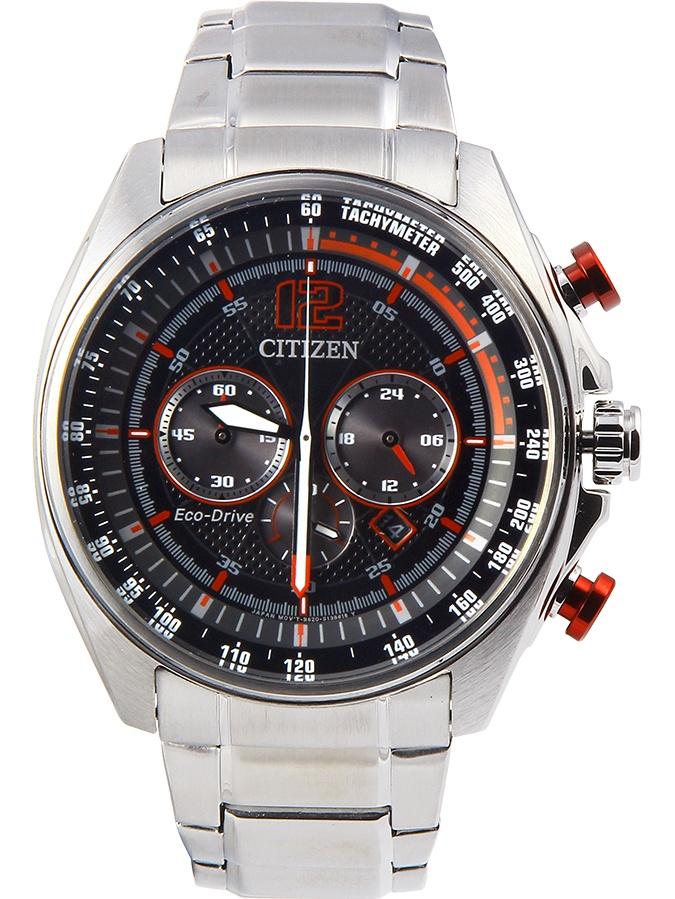 Citizen WDR Eco-Drive Black Dial Mens Watch CA4190-54E
