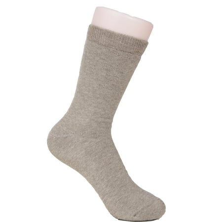 Wool Blend Side Tab (Lovely Annie Women's 1 Pair Thick Wool Blend Crew Socks Plain Color Size)