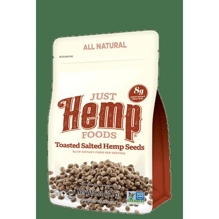 Just Hemp Foods Toasted Salted Hemp Seeds 8oz