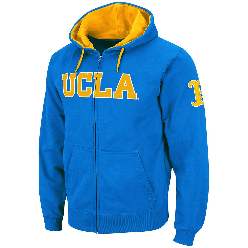 Mens UCLA Bruins Full Zip Hoodie S by Colosseum