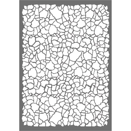 "Stamperia Stencil G 8.27""X11.69""-Crackle - image 1 of 1"