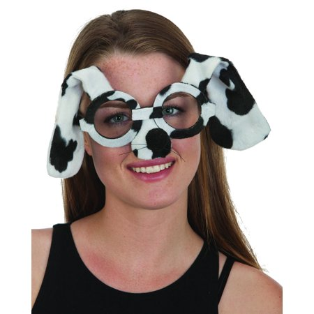 Adults Animal Diva Dalmation Pet Dog Eye Glasses Costume Accessory - Cat Eye Glasses Costume
