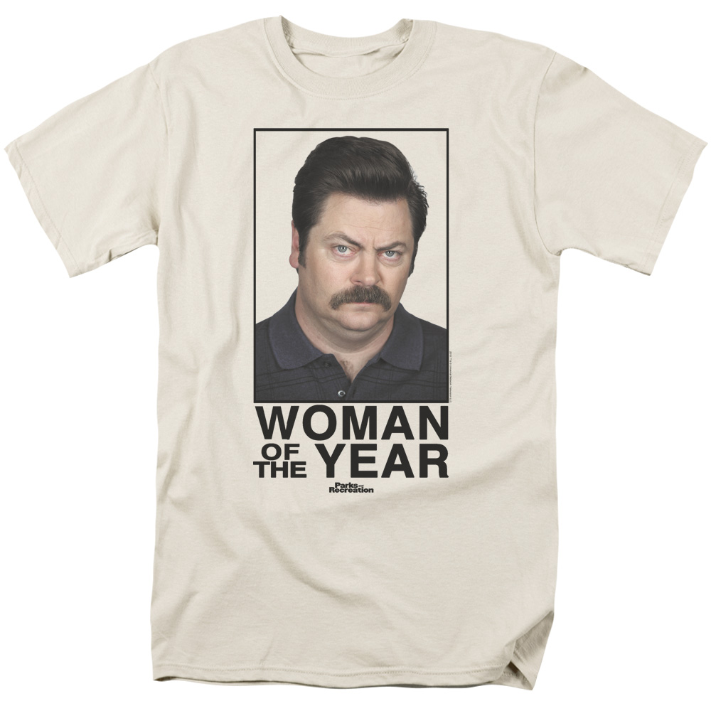 Parks&Rec/Woman Of The Year   S/S Adult 18/1   Cream     Nbc117