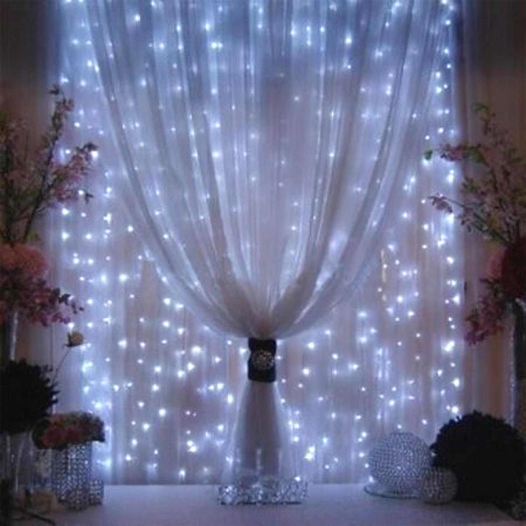 Curtain christmas lights - 3mx3m 300led String Light Curtain Light For Christmas Xmas Wedding Party Home Decoration White Walmart Com