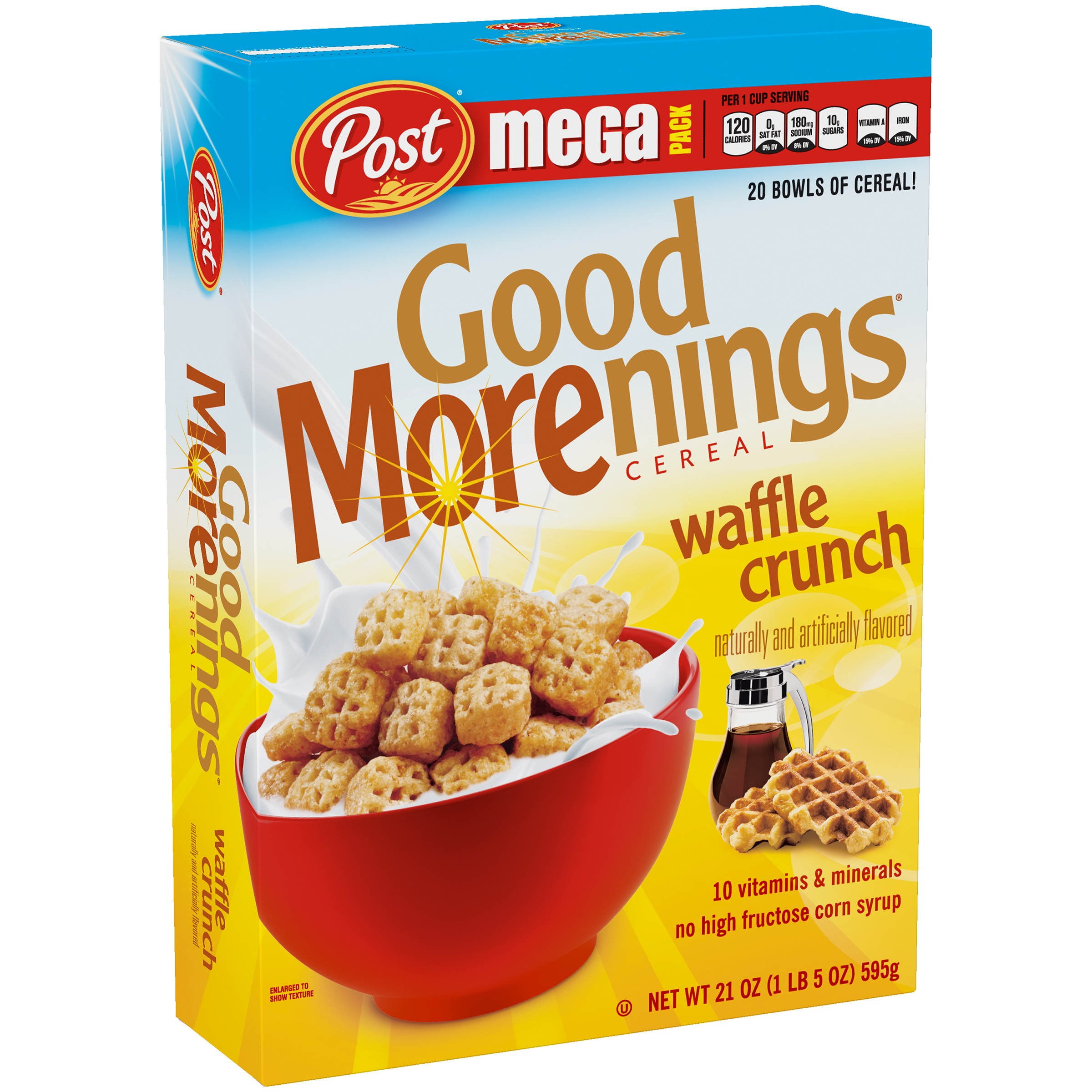Post® Good Morenings® Waffle Crunch Cereal 21 oz. Box