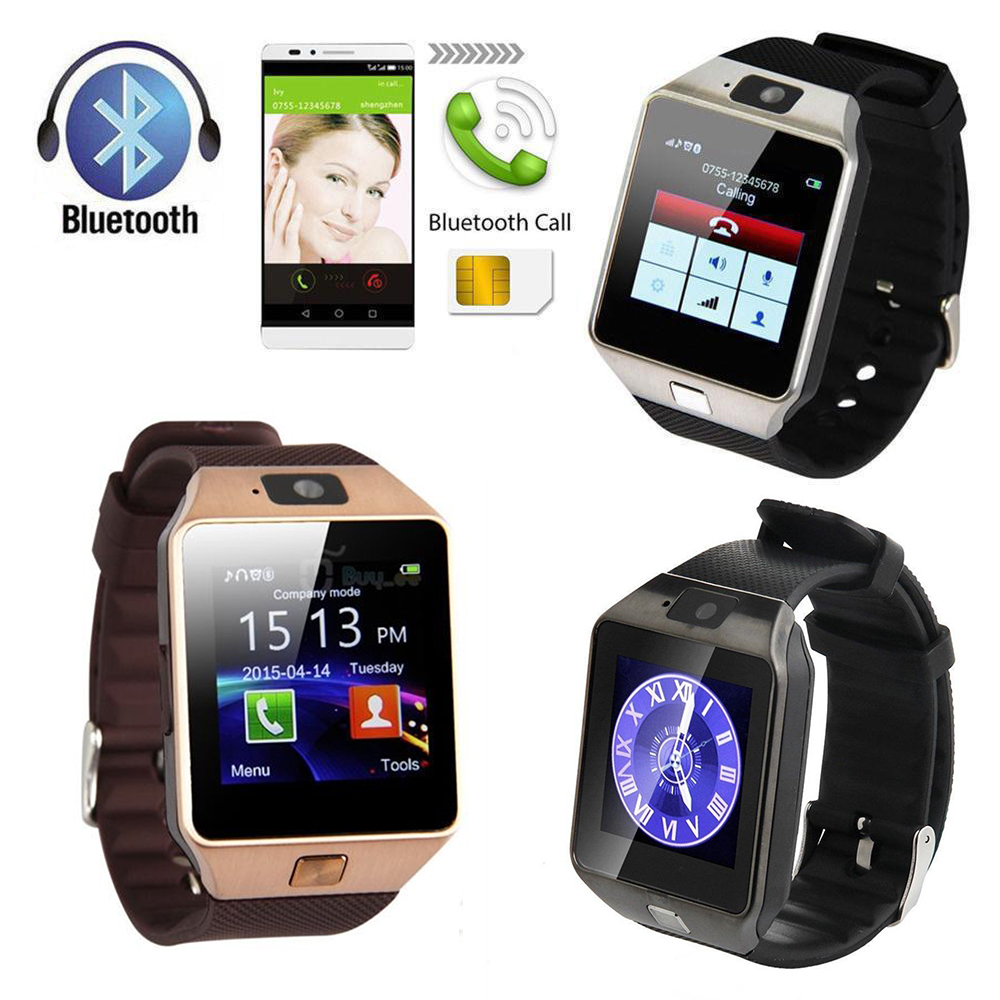 oobest DZ09 Bluetooth Smart Watch For IOS Android Iphone Samsung Gold