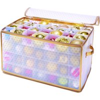 Simplify 112-Count Christmas Holiday Ornament Organizer - Gold