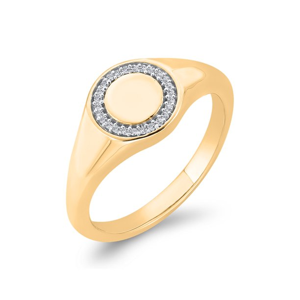 KATARINA Diamond Accent Fashion Ring in 14K Yellow Gold (1/10 cttw, G-H, I2-I3) (Size-9)