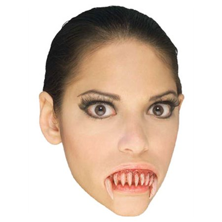 New Theatrical Quality Costume Vampire Fangs Dentures](Vampire Fangs Girl)
