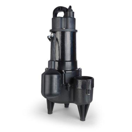 1/2 HP Cast Iron Sewage Pump w/ Wide Angle Switch Cast Iron Sewage Ejector Pump