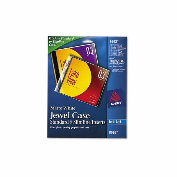 Avery Jewel Case Inserts by Avery