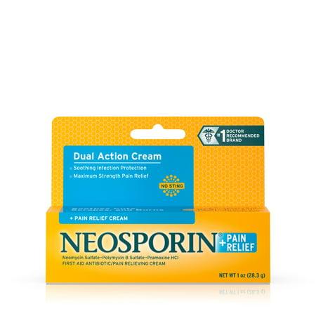 Neosporin + Pain Relief Dual Action Cream, 1 Oz