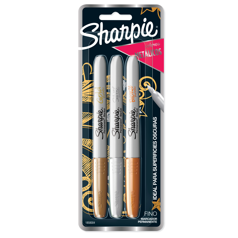 Sharpie Metallic Permanent Markers 2//Pkg-Gold /& Silver