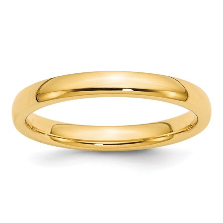 14kt Yellow Gold 3mm Comfort Fit Wedding Ring Band Size 7.50 Classic Domed Cf Style Mm B Width Fine Jewelry Ideal Gifts For Women Gift Set From Heart